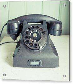 Old Telephone Square Acrylic Print