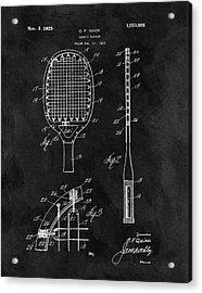 Old Tennis Racket Patent Acrylic Print