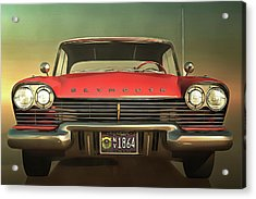 Old-timer Plymouth Acrylic Print by Jan Keteleer