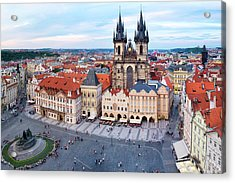 Acrylic Print featuring the photograph Old Town Square by Fabrizio Troiani