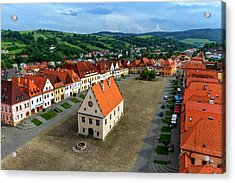 Old Town Square In Bardejov, Slovakia Acrylic Print