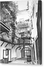 Old Viennese Courtyard Acrylic Print