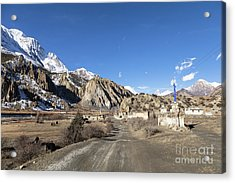 On The Annapurna Circuit Trekking Near Manang In Nepal Acrylic Print