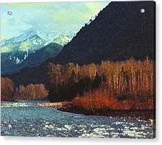 Acrylic Print featuring the photograph On The Squamish River 2223 by Lyle Crump