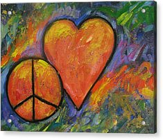 One Peace One Heart Acrylic Print