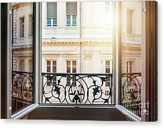 Open Window In Toulouse Acrylic Print