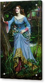 Ophelia Acrylic Print by John William Waterhouse