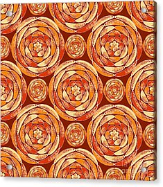 Orange Pattern Acrylic Print
