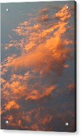 Orange Sky Acrylic Print by Brande Barrett