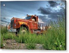 Orange Truck Acrylic Print