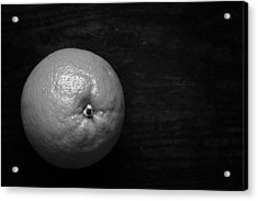 Oranges On Wood Background In Black And White Acrylic Print