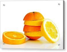Oranje Lemon Acrylic Print by Carlos Caetano
