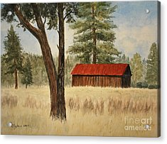 Oregon Barn Acrylic Print
