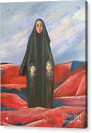 Orphans Acrylic Print by Ushangi Kumelashvili