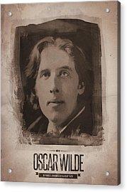 Oscar Wilde 01 Acrylic Print by Afterdarkness