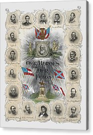 Our Heroes And Our Flags Acrylic Print by War Is Hell Store