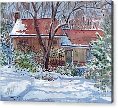 Our House Acrylic Print by Donald Maier
