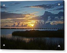 Acrylic Print featuring the photograph Outer Banks Sunset by Williams-Cairns Photography LLC