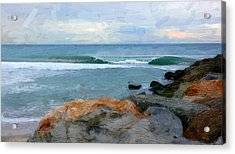 Outrunning The Tube Acrylic Print by Ron Regalado