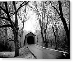 Acrylic Print featuring the photograph Outside Meems Bottom Bridge by Williams-Cairns Photography LLC