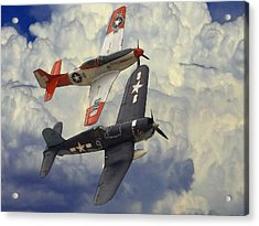 Over The Clouds Acrylic Print by Steve K