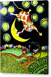 Over The Moon Acrylic Print by Tex Norman
