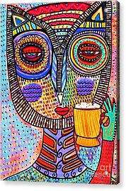 Owl Goddess Drinking Hot Chocolate Acrylic Print
