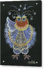 Owl Acrylic Print by Olena Skytsiuk