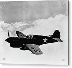 P-40 Warhawk Acrylic Print by War Is Hell Store