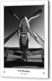 P-51 Mustang - Bordered Acrylic Print by John Hamlon