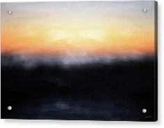 Pacific Sunset- Abstract Art By Linda Woods Acrylic Print