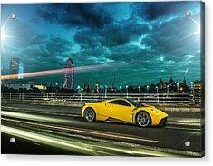 Pagani Huayra London Acrylic Print