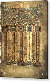 Page From The Book Of Kells Acrylic Print