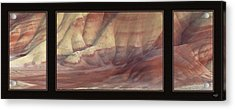 Acrylic Print featuring the photograph Painted Hills Triptych by Leland D Howard