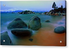 Painted Tahoe Acrylic Print by David Frissyn