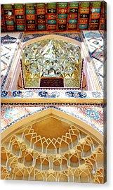 Acrylic Print featuring the photograph Detail Of The Palace Of Sheki Khans by Fabrizio Troiani