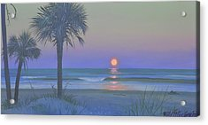 Palmetto Moon Acrylic Print by Blue Sky