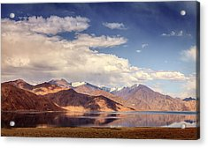 Acrylic Print featuring the photograph Pangong Tso Lake by Alexey Stiop