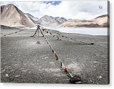 Acrylic Print featuring the photograph Pangong Tso Lkae by Alexey Stiop