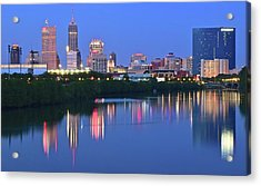Panoramic Indianapolis Acrylic Print by Frozen in Time Fine Art Photography