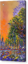 Paradise Aflame Acrylic Print by Ellen Young