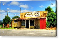 Parakoa Store New Zealand Acrylic Print by Andrew Simmonds