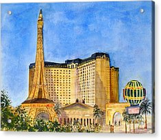 Paris Hotel And Casino Acrylic Print