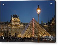 Louvre Museum At Twilight Acrylic Print by Juli Scalzi