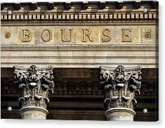 Paris Stock Exchange Acrylic Print by Dutourdumonde Photography