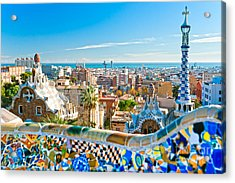 Park Guell Barcelona Acrylic Print by Luciano Mortula