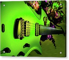 Parker Fly Guitar Hover Series Acrylic Print