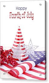Patriotic Party Decorations For Usa Events Acrylic Print