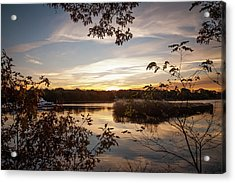 Acrylic Print featuring the photograph Pawcatuck River Sunrise by Kirkodd Photography Of New England