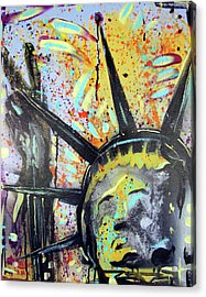 Peace And Liberty Acrylic Print by Robert Wolverton Jr